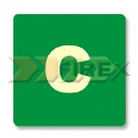 S51 Placa PVC Fotoluminescente Cobertura - 145x145x0.5 mm