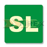 S55 Placa PVC Fotoluminescente Sobre Loja - 145x145x0.5 mm